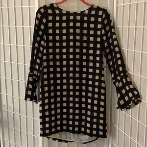 Checkered shift dress